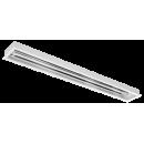 2619 Luminária fluorescente de embutir com refletor em alumínio anodizado alto brilho e difusor em poliestireno translúcido compatível com fluorescente Led, tubo LED.