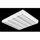 3727 Luminária Fluorescente de sobrepor, iBright, com refletor parabólico em alumínio alto brilho e aletas branca, compatível com Fluorescente LED, Tubo Led.