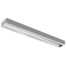 3547 Luminária fluorescente de sobrepor, iBright, com facho assimétrico e refletor em alumínio anodizado alto brilho, para 1x14W, 1x28W, compatível com fluorescente Led, Tubo LED