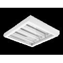 3615 Luminária fluorescente de sobrepor, iBright, com refletor em alumínio anodizado alto brilho e difusor em poliestireno translúcido compatível com fluorescente Led, tubo LED.