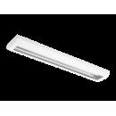 3619 Luminária fluorescente de sobrepor, iBright, com refletor em alumínio anodizado alto brilho e difusor em poliestireno translúcido compatível com fluorescente Led, tubo LED.