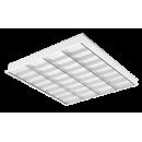 2725 LED Luminária Led de embutir com controle ótico refletor parabólico em alumínio anodizado alto brilho e aletas branca.